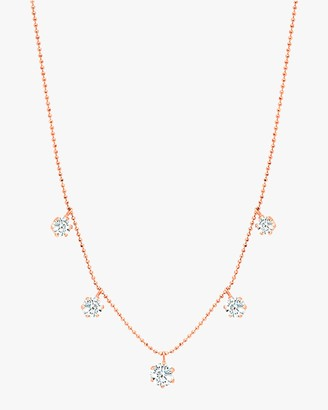 Graziela Gems Large Rose Gold Floating Diamond Necklace