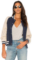 The Great The Letterman Jacket in Navy. - size 1 / S (also in 2 / M)