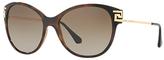Versace VE4316B Embellished Cat's Eye Sunglasses, Tortoise/Brown Gradient