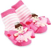 Mud Pie Pink & White Stripe Princess Socks - Infant