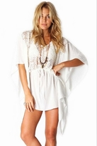 Nightcap Clothing Sunflower Caftan in White