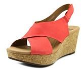 Clarks Annadel Eirwyn Women W Open Toe Leather Wedge Sandal.
