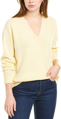 Vince Marled V-Neck Wool & Cashmere-Blend Sweater