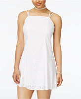 Planet Gold Eyelet Crisscross-Back Dress