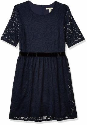 Lark & Ro Women's Half Sleeve Stretch Lace Dress