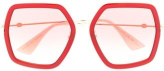 Gucci Oversized-Frame Sunglassse