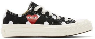 Comme des Garcons Black Converse Edition Polka Dot Heart Chuck 70 Low Sneakers