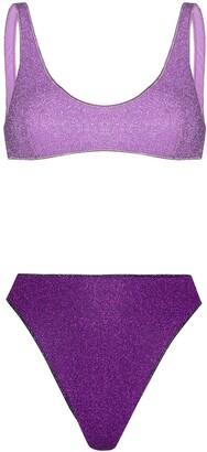 Oseree Lurex Two-Tone Bikini Set