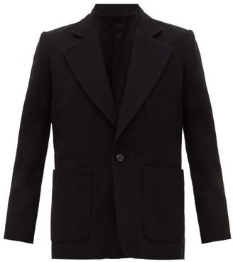 Ann Demeulemeester Single-breasted Wool-blend Twill Suit Jacket - Black