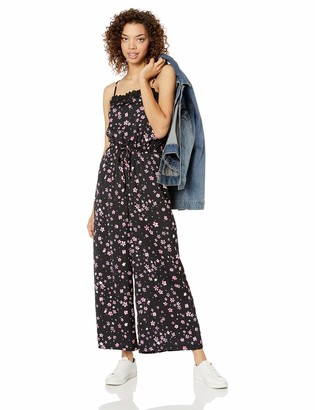 Cupcakes And Cashmere Women's Vickie Printed Jumpsuit with lace Trims