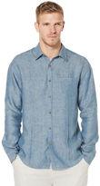 Cubavera 100% Linen Long Sleeve 1 Pocket Button Down Shirt