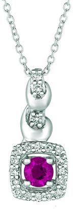 LeVian Le Vian 14K 0.39 Ct. Tw. Diamond & Ruby Pendant Necklace