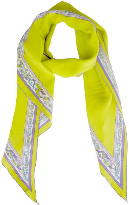 Emilio Pucci Quadrif printed silk scarf