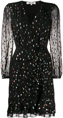 Diane von Furstenberg Lilian sheer metallic dress