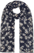 Yours Clothing YoursClothing Plus Size Womens Shawl Ladies Daisy Print Scarf