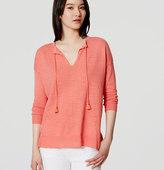 LOFT Tasseled Tunic Sweater