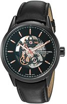 Raymond Weil Men's 'Freelancer' Swiss Automatic Stainless Steel and Leather Casual Watch, Color:Black (Model: 2715-BKC-20021)