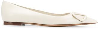 Valentino VLOGO pointed-toe ballerina shoes