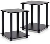 Furinno 12127EX/BK Simplistic End Table, Espresso/Black, Set of 2