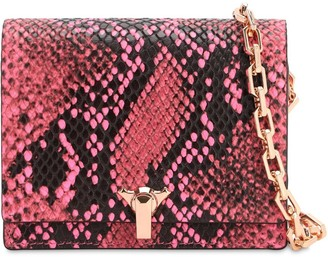 THE VOLON Po Poket Snake Printed Leather Bag