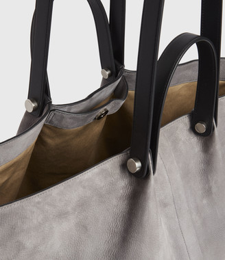 AllSaints Allington Suede East West Tote Bag