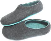 Men's Rubber Sole Felt Slippers