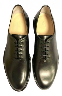 Fendi Black Leather Lace ups