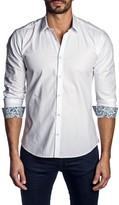 Jared Lang Contras Cuffs Long Sleeve Trim Fit Shirt