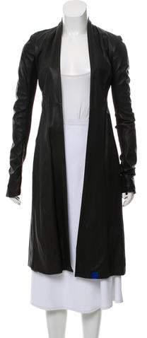 Rick Owens Leather Long Coat