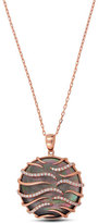 Frederic Sage 18K Rose Gold & Black Mother-of-Pearl Pendant Necklace with Diamonds