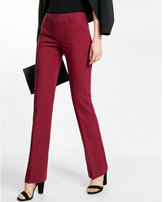 Express low rise slim flare notch back editor pant