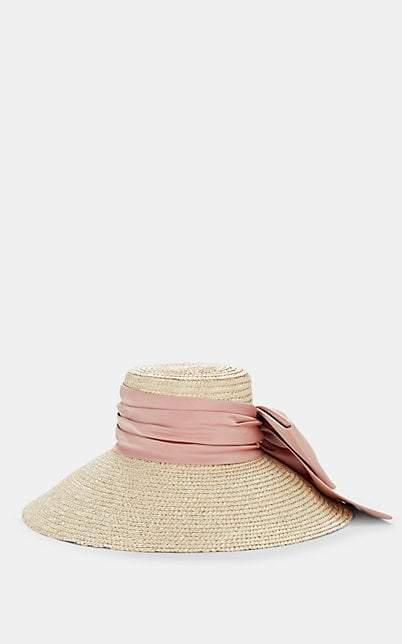 Eugenia Kim Women's Mirabel Satin-Bow Straw Hat - Beige, Tan