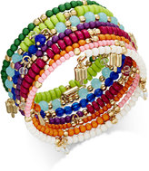 INC International Concepts Gold-Tone Multi-Layer Beaded Coil Bracelet, Only at Macy's