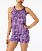 Alfani Printed Tank Top and Boxer Pajama Set, Only at Macy's