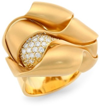 Hueb Dunas 18K Yellow Gold & Diamond Ring