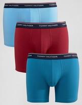 Tommy Hilfiger Premium Trunks In 3 Pack Longer Length