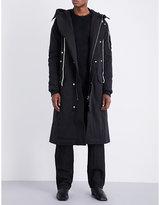 Rick Owens Drkshdw Hooded Cotton-blend Parka Coat