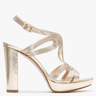 Daniel Anaca Gold Platform Sandals
