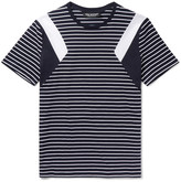 Neil Barrett - Slim-fit Panelled Striped Cotton-jersey T-shirt