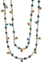 Marchesa Gold-Tone Colored Stone Long Strand Necklace