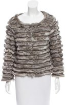 Alice + Olivia Fur-Trimmed Wool Jacket