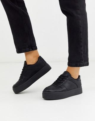 Asos Design DESIGN Diaries flatform trainers in black
