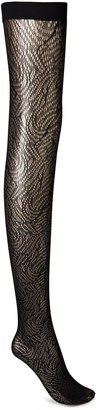 Wolford True Blossom Stretch-jacquard Fishnet Stay-up Stockings