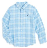 Vineyard Vines Boy's Leverick Bay Beach Plaid Woven Shirt