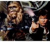 """Star Wars Peter Mayhew Signed """"Chewbacca"""" with Han Solo Defending the Millenium Falcon Episode IV: A New Hope 16"""" x 20"""" Photo Poster"""