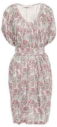 Vanessa Bruno Lalla Belted Floral-print Linen-jersey Dress
