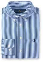 Ralph Lauren Striped Cotton Dress Shirt Royal/White Multi 12
