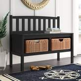 Beachcrest Home Offerman Cubby Storage Bench Color: Black