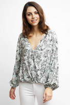 Somedays Lovin Some Days Lovin Into Daybreak Floral Surplice Top