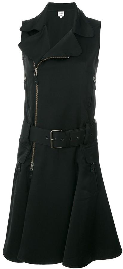 Jean Paul Gaultier Pre-Owned sleeveless belted biker dress